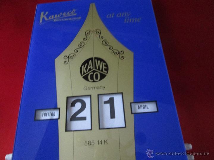 Coleccionismo Calendarios: Aºcalendario pared-perpetuo-w.germany-kaweco-azul+dorado-nuevo-ver fotos - Foto 2 - 53148534