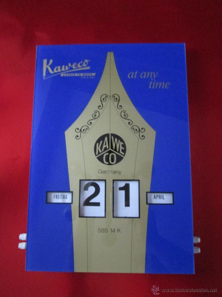 Coleccionismo Calendarios: Aºcalendario pared-perpetuo-w.germany-kaweco-azul+dorado-nuevo-ver fotos - Foto 3 - 53148534