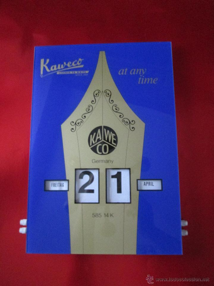 Coleccionismo Calendarios: Aºcalendario pared-perpetuo-w.germany-kaweco-azul+dorado-nuevo-ver fotos - Foto 4 - 53148534