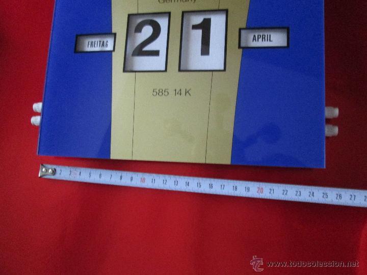 Coleccionismo Calendarios: Aºcalendario pared-perpetuo-w.germany-kaweco-azul+dorado-nuevo-ver fotos - Foto 5 - 53148534