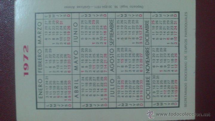 Coleccionismo Calendarios: CALENDARIO AÑO 1972, SECRETARIADO DIOCESIANO DE TEMPLOS PARROQUIALES. - Foto 2 - 53187980