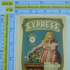 Coleccionismo Calendarios: CALENDARIO DE BOLSILLO AÑO 2003. ANTIGUO ANUNCIO CARTEL. MÁQUINA DE COSER EXPRESS, NIÑA. Lote 117393422