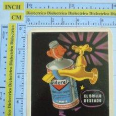 Coleccionismo Calendarios: CALENDARIO DE BOLSILLO AÑO 2003. ANTIGUO ANUNCIO CARTEL. BRILLANTE PARA METALES SIDERAL. Lote 53228397