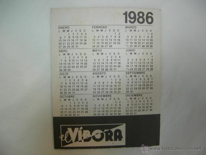 Coleccionismo Calendarios: CALENDARIO 1986 EL VÍBORA - Foto 2 - 53241397