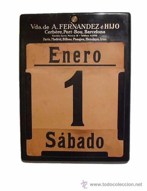 ANTIGUO CALENDARIO PERPETUO DE PARED METAL LITOGRAFIADO Y ESMALTADO CON PUBLICIDAD-AÑOS 20-30 (Coleccionismo - Calendarios)