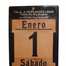 Coleccionismo Calendarios: ANTIGUO CALENDARIO PERPETUO DE PARED METAL LITOGRAFIADO Y ESMALTADO CON PUBLICIDAD-AÑOS 20-30. Lote 53287937