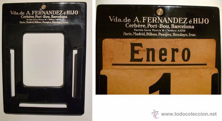 Coleccionismo Calendarios: ANTIGUO CALENDARIO PERPETUO DE PARED METAL LITOGRAFIADO Y ESMALTADO CON PUBLICIDAD-AÑOS 20-30 - Foto 2 - 53287937