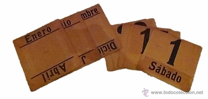Coleccionismo Calendarios: ANTIGUO CALENDARIO PERPETUO DE PARED METAL LITOGRAFIADO Y ESMALTADO CON PUBLICIDAD-AÑOS 20-30 - Foto 3 - 53287937