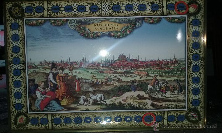 Calendario Panorama.Calendario Metalico De Pared Aleman Panorama De Nuremberg