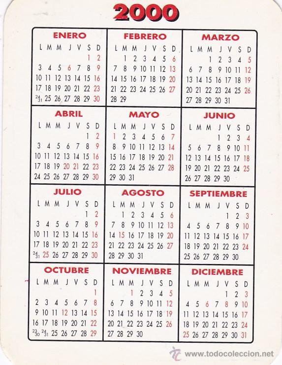 Calendario Del 2000.Calendario 2000 Andres Campillo Catalogo De Bolsillo 2000