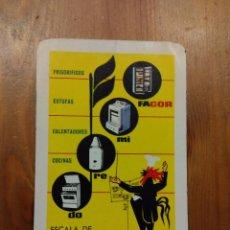 Coleccionismo Calendarios: CALENDARIO BOLSILLO FOURNIER FAGOR – AÑO 1964. Lote 53519962