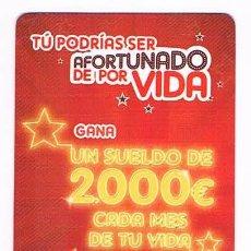 Coleccionismo Calendarios: CALENDARIO ANTIGUO NESCAFÉ GANA UN SUELDO DE 2.000 EUROS CADA MÉS DE TU VIDA 2009. Lote 53621564