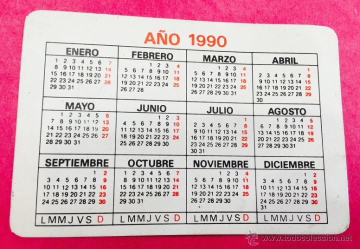 1990 Calendario.Calendario Ano 1990 Sus Viajes Y Vacaciones Con Viajes El Corte Ingles