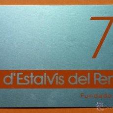 Coleccionismo Calendarios: CALENDARIO METALICO DE ALUMINIO. CAIXA D'ESTALVIS DEL PENEDES. 1978. PERFECTO.. Lote 53715530