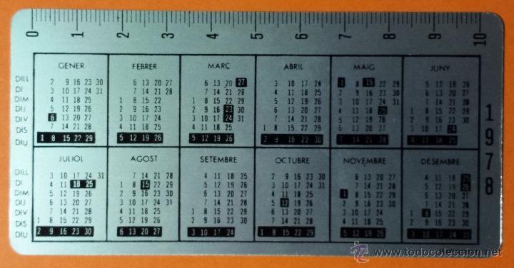 Coleccionismo Calendarios: CALENDARIO METALICO DE ALUMINIO. CAIXA DESTALVIS DEL PENEDES. 1978. PERFECTO. - Foto 2 - 53715530