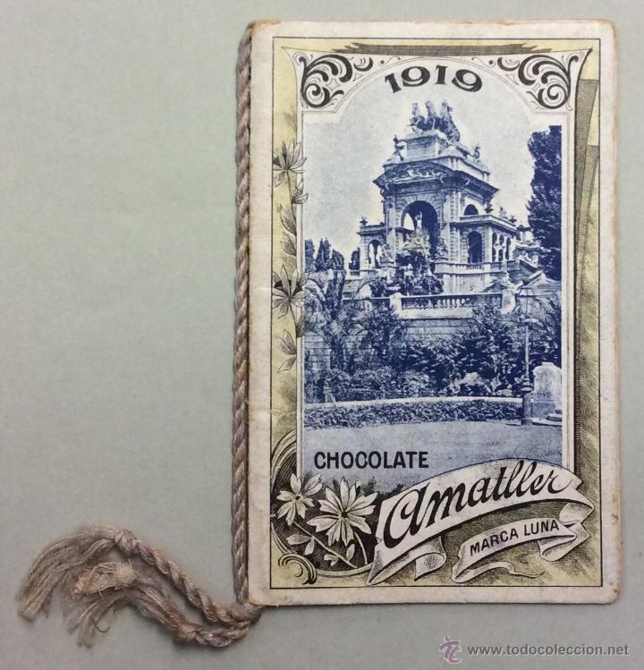 CHOCOLATE AMATLLER. MARCA LUNA. CALENDARIO PARA 1919. FABRICA SAN MARTIN DE PROVENSALS. (Coleccionismo - Calendarios)