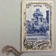 Coleccionismo Calendarios: CHOCOLATE AMATLLER. MARCA LUNA. CALENDARIO PARA 1919. FABRICA SAN MARTIN DE PROVENSALS. . Lote 53743351