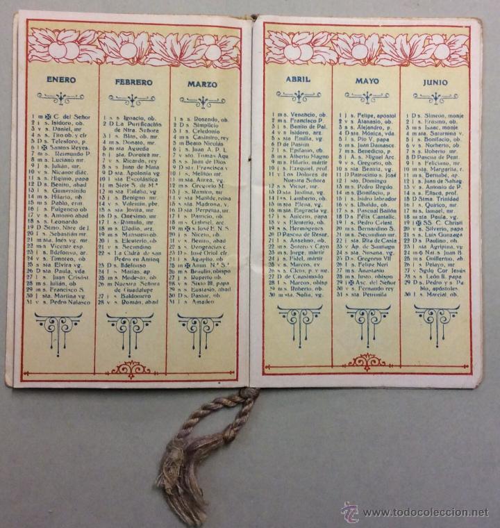 Coleccionismo Calendarios: CHOCOLATE AMATLLER. MARCA LUNA. CALENDARIO PARA 1919. FABRICA SAN MARTIN DE PROVENSALS. - Foto 3 - 53743351
