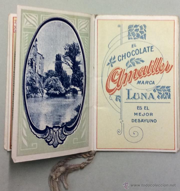 Coleccionismo Calendarios: CHOCOLATE AMATLLER. MARCA LUNA. CALENDARIO PARA 1919. FABRICA SAN MARTIN DE PROVENSALS. - Foto 4 - 53743351