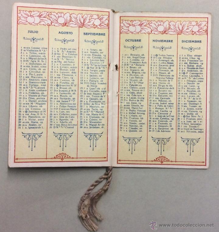 Coleccionismo Calendarios: CHOCOLATE AMATLLER. MARCA LUNA. CALENDARIO PARA 1919. FABRICA SAN MARTIN DE PROVENSALS. - Foto 6 - 53743351