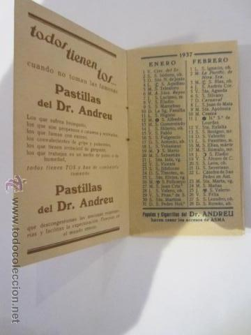 Calendario 1937.Calendario 1937 Pastillas Del Dr Andreu Sold Through