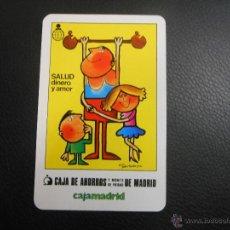 Coleccionismo Calendarios: 1984 CALENDARIO DE FOURNIER - SALUD DINERO Y AMOR CAJA DE AHORROS Y MONTE PIEDAD MADRID. Lote 53787708