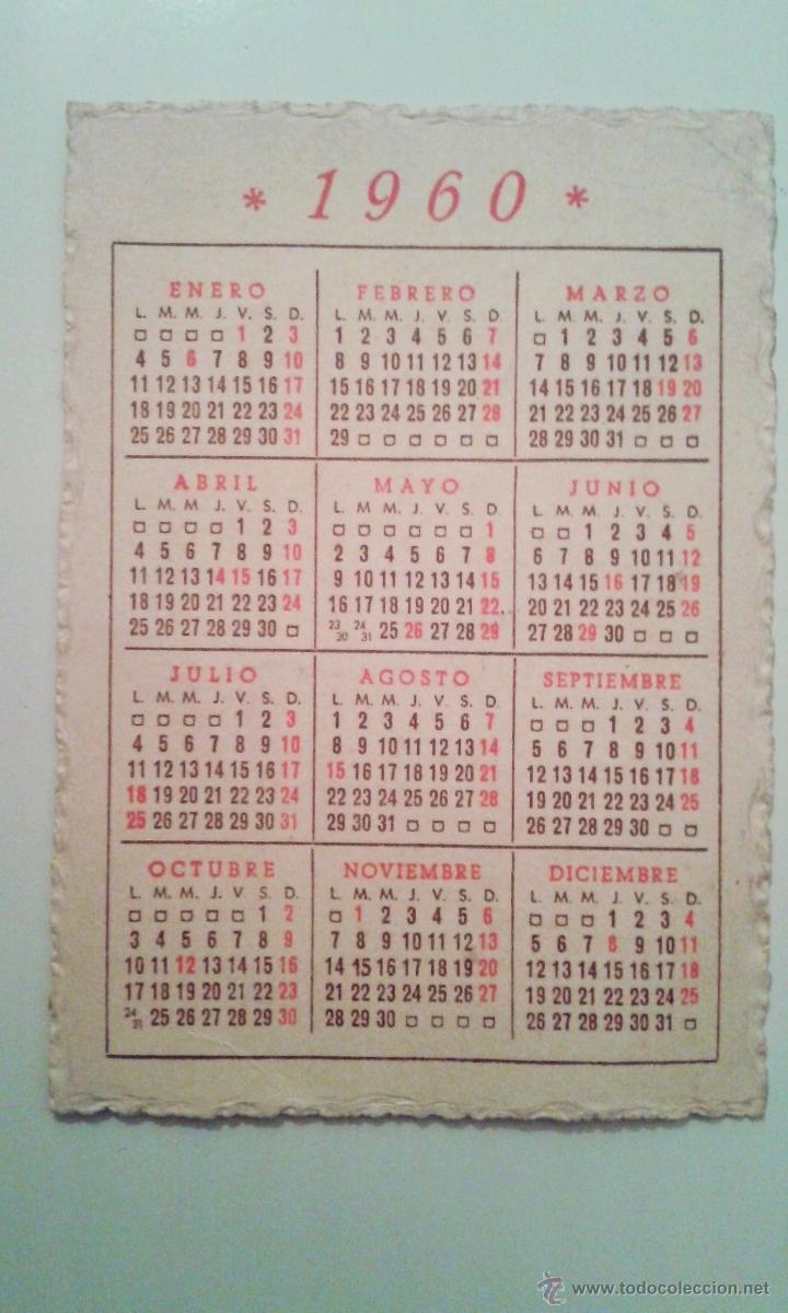 Calendario 1960.Calendario 1960 Publicidad Gran Sastreria Eclesiastica Jaulent Barcelona
