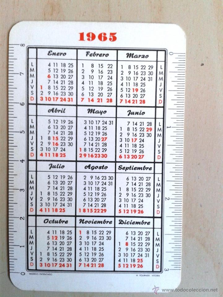 Calendario Del Ano 1965.Calendario Fournier Ano 1965 Ebro Y Waterman