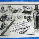 Coleccionismo Calendarios: CALENDARIO FOURNIER. WATERMAN'S EBRO, 1953.. Lote 54028742