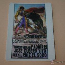Coleccionismo Calendarios: CALENDARIO DE BOLSILLO:TOROS POZOBLANCO PAQUIRRI,MIRAR FOTOS,AÑO 1986,LOTE 1. Lote 54067043