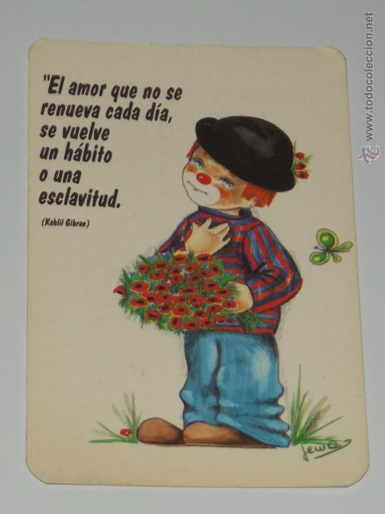 Calendario Dibujo Payaso Jema Frase Amor Flores Comprar