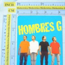 Coleccionismo Calendarios: CALENDARIO DE BOLSILLO DE MÚSICA. AÑO 2005. HOMBRES G, TODO ESTO ES MUY EXTRAÑO. Lote 134036965