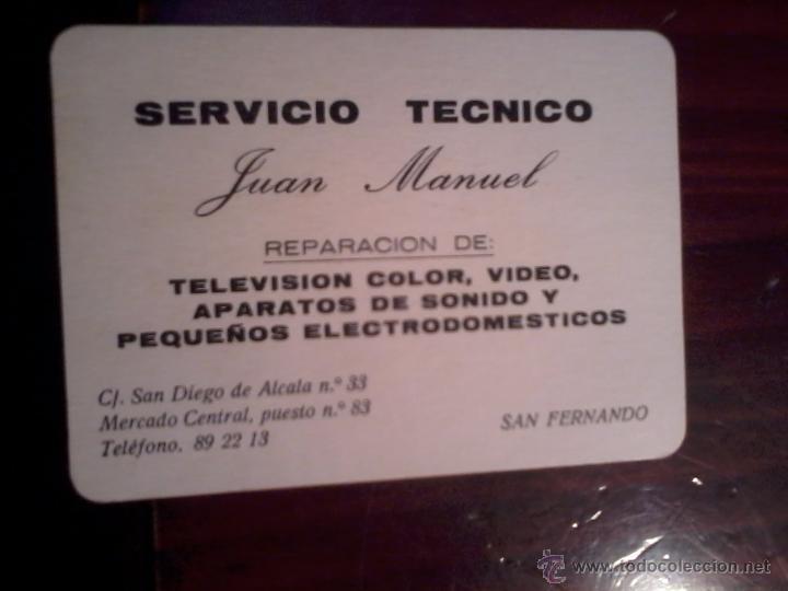 CALENDARIO DE BOLSILLO. 1996. SERVICIO TECNICO. (Coleccionismo - Calendarios)