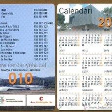 Coleccionismo Calendarios: CALENDARIOS BOLSILLO - AJUNTAMENT DE CERDANYOLA DEL VALLES 2011. Lote 54152742
