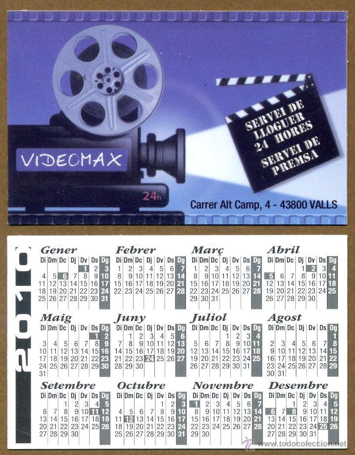 CALENDARIOS BOLSILLO - VIDEOMAX 2010 (Coleccionismo - Calendarios)