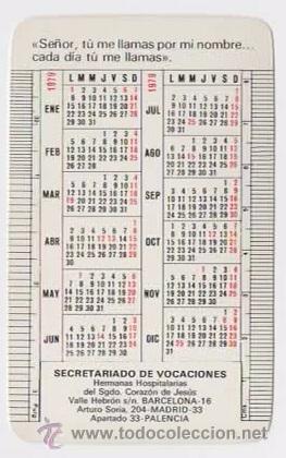 Calendario Religioso.Calendario Religioso Secretariado De Vocaciones Hermanas Hospitalarias 1979