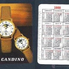 Coleccionismo Calendarios: CALENDARIO, PUBLICADO PORTUGAL, AÑO:1988 - RELOJ CANDINO. Lote 54221558