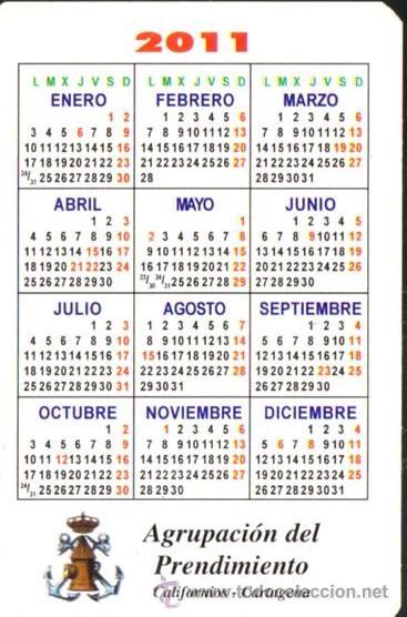 2011 Calendario.Semana Santa Cartagena Californios Calendario 2011 Cristo Prendimiento