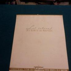 Coleccionismo Calendarios: LOS COLORES EN EL REINO DE LAS MARIPOSAS - CALENDARIO DE PARED INDUSTRIAS TITAN AÑO 1959 (VER FOTOS). Lote 54734607