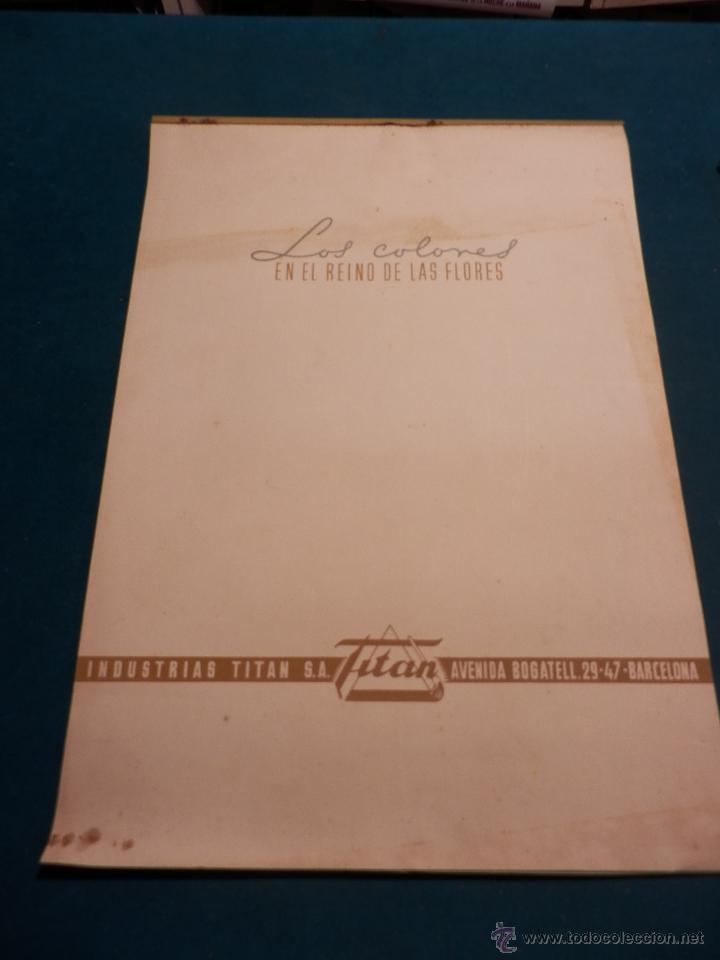 LOS COLORES EN EL REINO DE LAS FLORES - CALENDARIO DE PARED INDUSTRIAS TITAN AÑO 1956 (VER FOTOS) (Coleccionismo - Calendarios)