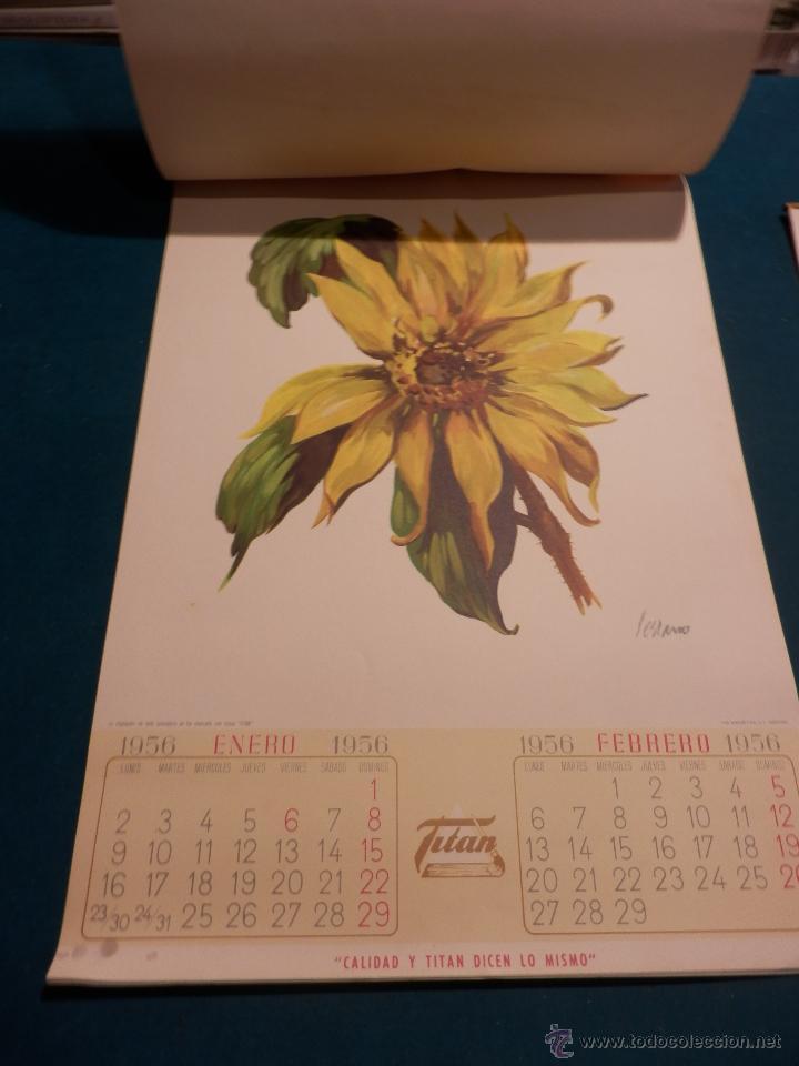 Coleccionismo Calendarios: LOS COLORES EN EL REINO DE LAS FLORES - CALENDARIO DE PARED INDUSTRIAS TITAN AÑO 1956 (VER FOTOS) - Foto 4 - 54734641