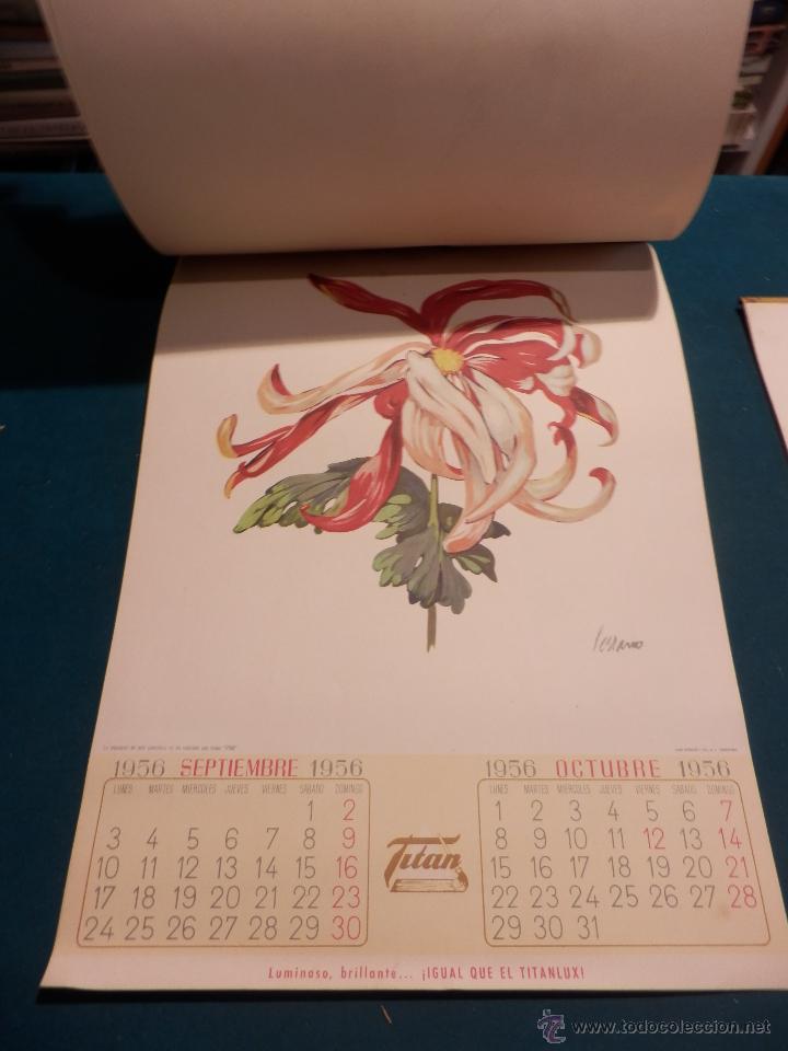 Coleccionismo Calendarios: LOS COLORES EN EL REINO DE LAS FLORES - CALENDARIO DE PARED INDUSTRIAS TITAN AÑO 1956 (VER FOTOS) - Foto 8 - 54734641