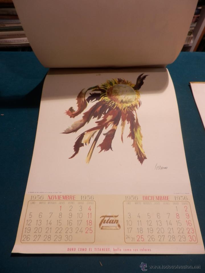 Coleccionismo Calendarios: LOS COLORES EN EL REINO DE LAS FLORES - CALENDARIO DE PARED INDUSTRIAS TITAN AÑO 1956 (VER FOTOS) - Foto 9 - 54734641