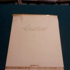 Coleccionismo Calendarios: LOS COLORES EN EL REINO DE LOS PECES - CALENDARIO DE PARED INDUSTRIAS TITAN AÑO 1957 (VER FOTOS). Lote 54734661