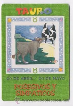 Calendario Zodiaco.Calendario Horoscopos Zodiaco 2001 Serie Wcb Tauro