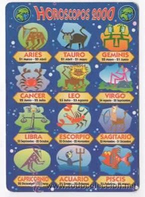 Calendario Zodiaco.Calendario Horoscopos Zodiaco 2000 Serie Wcb Horoscopos 2000