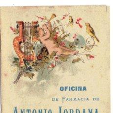 Coleccionismo Calendarios: PS6153 CALENDARIO 1893. FARMACIA ANTONIO JORDANA. BARCELONA. Lote 52652880