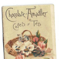 Coleccionismo Calendarios: PS5855 ALMANAQUE DE LAS FLORES. CHOCOLATE AMATLLER. BARCELONA. 1896. Lote 51521075