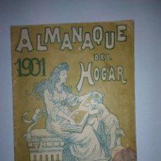 Coleccionismo Calendarios: ALMANAQUE DEL HOGAR AÑO 1901. Lote 54794874