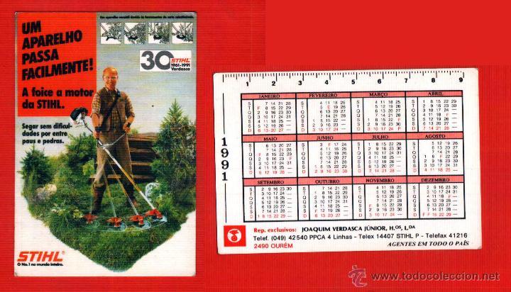 Calendario Stihl.Calendario Portugal Ano 1991 Stihl